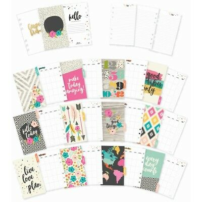 Carpe Diem GOOD VIBES Personal Monthly Planner Inserts + dividers fits Filofax