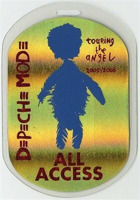 Depeche Mode authentic 2005 concert Laminated Backstage Pass Angel Tour Gold AA