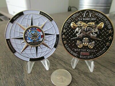 Office of Naval Intelligence ONI DET 0813 St Louis CPO SER # USN Challenge Coin