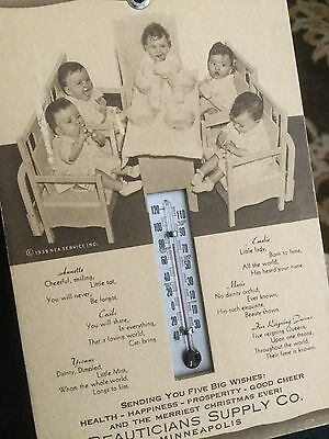Dionne Quintuplets Thermometer.  Nice!