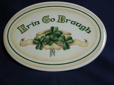 Erin Go Braugh Oval Plate by Manual Woodworkers and Weavers