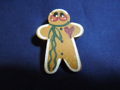 1.75 in Wooden Gingerbread Pin
