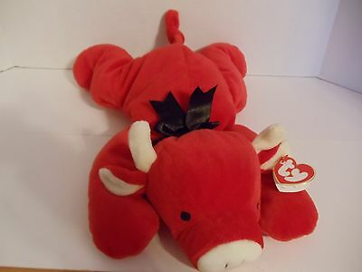 Ty  Pillow Pal - Red The Bull  1997