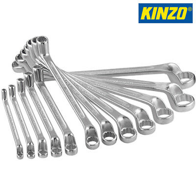 Set 12 Pezzi Chiavi Spanner Combinate Da 6 Mm A 32 Mm In Cromo Vanadio Kinzo