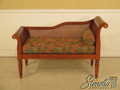 23941E: MILLING ROAD By BAKER French Louis XVI Style Cane Cherry Chaise Lounge