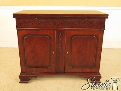 L41234EC: HENKEL HARRIS Chippendale Flip Top Mahogany Server