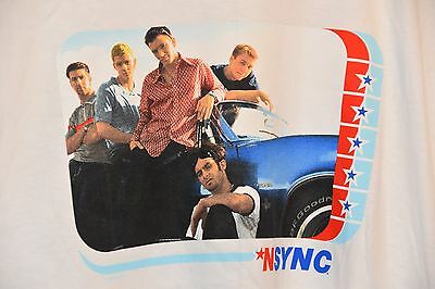 1998 New Old Stock NSYNC T Shirt Group Photo SIZE LARGE NWOT Justin Timberlake
