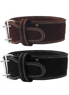 Weight Lifting Belt Suede Leather Power Lifting Strap Dip Training Back Support