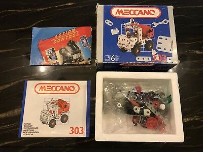 Vintage Meccano Motorized Water Canon 303 Toy Kit Approx 170 Pieces