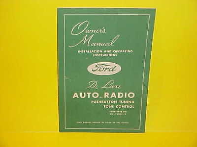 1948 Ford Car Super Deluxe V-8 Six Convertible Coupe Am Radio Owners Manual M-1