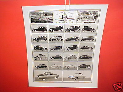 1954 Lincoln History Photograph Photo Picture Brochure