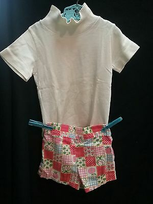 Vintage 1950s 60s shirt shorts blouse HEALTH-TEX outfit girl sz 1 2 3 summer