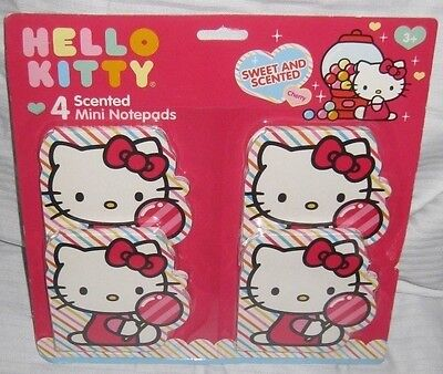 Scented Notebooks  Memo Pads Hello kitty 4-pack Cherry Scented Memo Note Pads