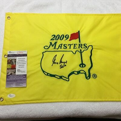 Gary Player signed 52nd Masters golf flag JSA PROOF