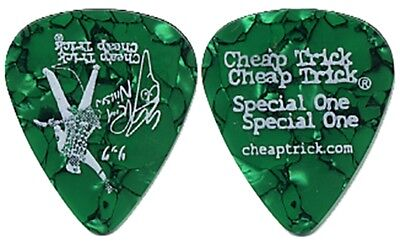 Cheap Trick Rick Nielsen 2004 Special One tour band Guitar Pick green large logo