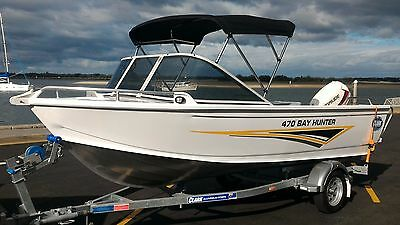 Retail $28000 New Clark 470 BayHunter Boat and trailer with new 40HP Evinrude