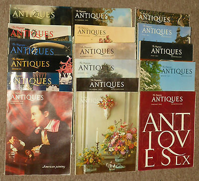 Large Lot of 17 Antiques The Magazine 1970's 1980's 1990's
