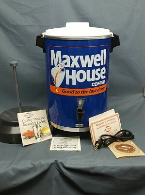 Maxwell House West Bend 30 Cup Coffee Maker Electric Promo from 1982 NEW!