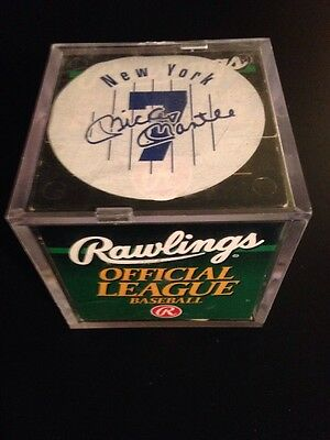 Vintage Mickey Mantle Rawlings Official League Leather Baseball