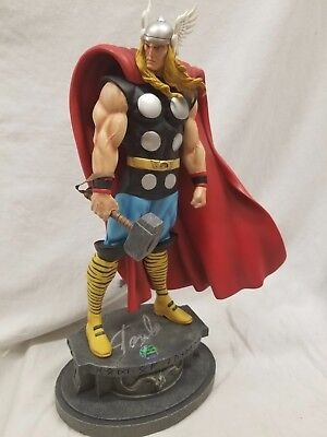 "BOWEN DESIGNS SIGNED By STAN LEE THOR Classic MUSEUM STATUE 15"" AVENGERS Hulk ."