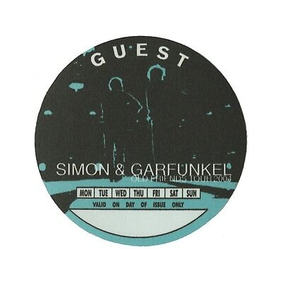 Simon & Garfunkel authentic 2004 Old Friends tour Satin cloth Backstage Pass