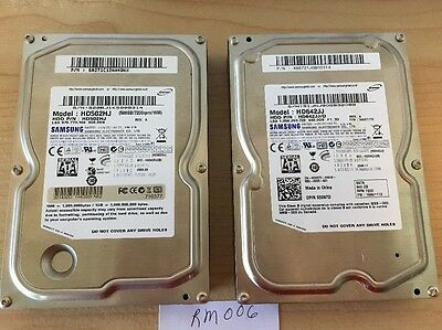 Samsung Hard Drive Lot of Two 1ea 500GB and 640GB Used, Tested, Wiped