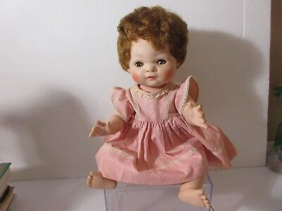 """AMERICAN CHARACTER Doll Baby Toodles Doll Squeaker Works 1958 16"""""""