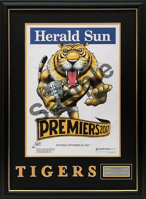 Richmond Premiers 2017 Weg Knight Original Poster Framed With Bonus Poster
