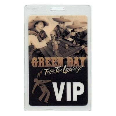 Green Day authentic 2001 concert Laminated Backstage Pass Taste Lightning Tour
