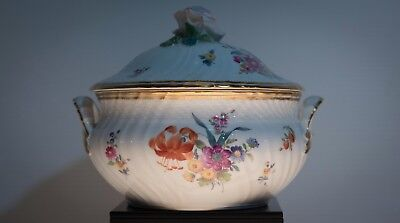 Early Royal Copenhagen Porcelain Covered Soup Tureen