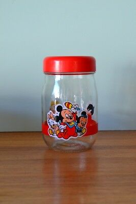 Vintage Disney baby characters  glass jar  Mickey mouse France french