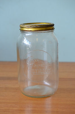 Vintage AGEE jar glass  Preserving Jar storage improved utility
