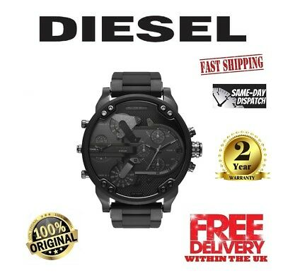 New Diesel DZ7396 Mr. Daddy 2.0 Black Dial Men's Chronograph Watch with box