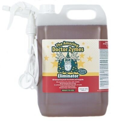 DoctorZymes 168oz Eliminator Spray.All Natural Enzymatic Insecticide & Fungicide