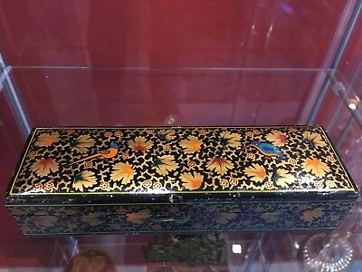 Antique Chinese Hand Painted Pen Box