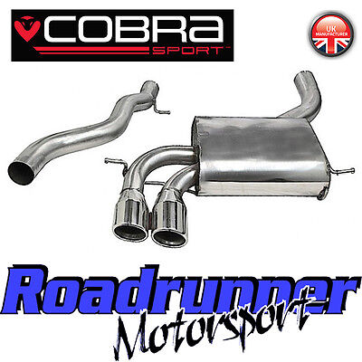 "Cobra Audi S3 8P 3 Door 2.0 3"" Cat Back Exhaust Stainless Non Res - Louder AU07"