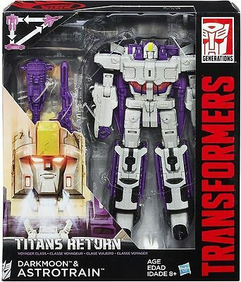 Transformers Generations Titans Return Darkmoon & Astrotrain Voyager Figure .