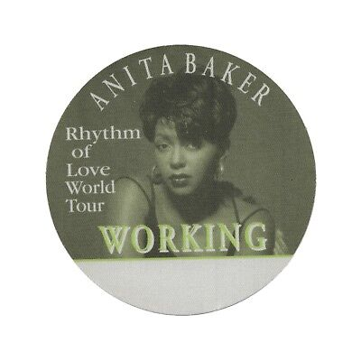 Anita Baker authentic Working 1994 tour Backstage Pass