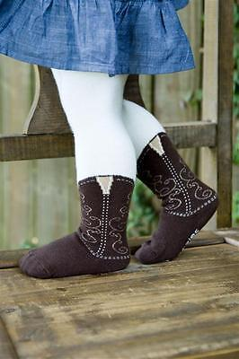Infant/toddler Brown Cowboy Boot Tights, Bootzies!! Size 6-18 Mos Adorable!!