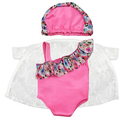 Adorable Swimsuit Sun Protective Shirt Outfit for 18'' American Girl AG Doll