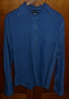 Vintage Skin Deep Sydney Mens Blue Cufflink Shirt Size M Excellent Condition