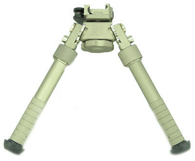atlas style BIPOD BI POD METAL RIFLE RAIL RIS stand SWIVEL TAN DE AIRSOFT + MARK