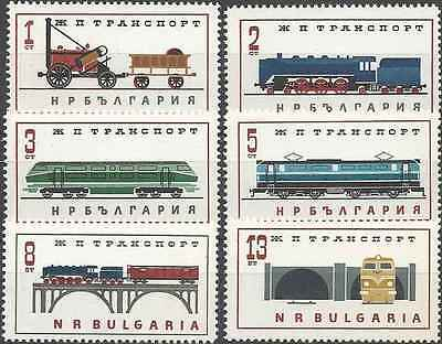 Timbres Trains Bulgarie 1256/61 ** lot 1995