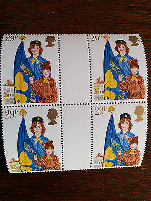 GB mint and unmounted 4 Girl Guide Movement stamps 1982