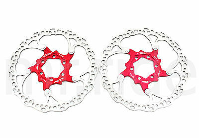 2pcs Alligator 160mm 104g bike bicycle Floating Disc Brake Rotor with bolts Red
