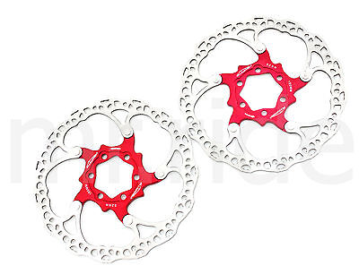 Alligator 160mm 104g bike bicycle Floating Disc Brake Rotor /W bolts Red 1pair