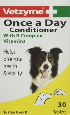 Vetzyme Once A Day Conditioner Tablets With B Complex Vitamins For Dogs 30 Tabs