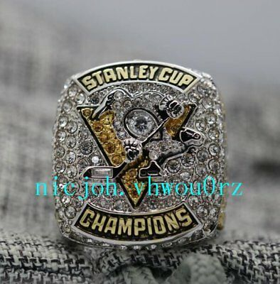 Pittsburgh Penguins 2017 Stanley Cup Championship ring Size 8-14 Christmas Gift