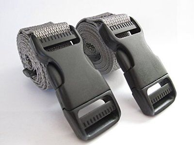 Backpack Molle Accessory Straps Quick Release Buckle Grey 48 Inch Long 1 In Wide