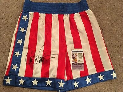 Carl Weathers Signed Apollo Creed Boxing Shorts Jsa Proof Autograph Trunks